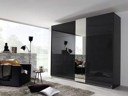 Rauch Miramar 2 Door Sliding Wardrobe in Basalt - W 271cm