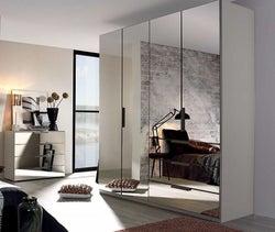 Rauch Miramar 4 Door Combi Wardrobe in Silk Grey - W 201cm