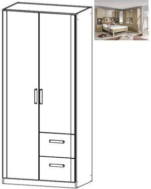 Rauch Rivera 2 Door 2 Right Drawer Combi Wardrobe with Cornice in Sonoma Oak