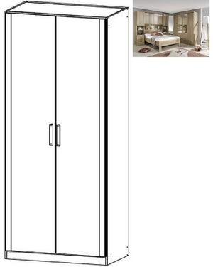 Rauch Rivera 2 Door Wardrobe with Cornice in Sonoma Oak