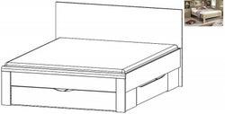 Rauch Rivera 4ft 6in Double Storage Bed in Sonoma Oak - 140cm x 190cm