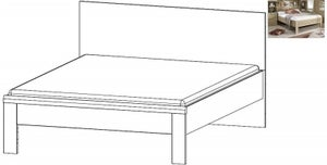 Rauch Rivera 5ft King Size Bed in Sonoma Oak - 160cm x 200cm