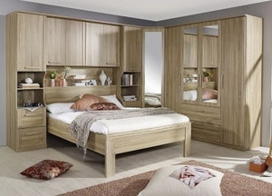 Rauch Rivera Bedroom Set with 140cm Bed in Sonoma Oak