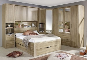 Rauch Rivera Bedroom Set with 140cm Storage Bed in Sonoma Oak