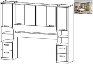 Rauch Rivera Overbed Unit for Bed in Sonoma Oak - 140cm x 190cm