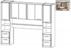 Rauch Rivera Overbed Unit for Bed in Sonoma Oak - 160cm x 200cm