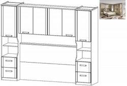 Rauch Rivera Overbed Unit for Divan Bed in Sonoma Oak - 160cm x 200cm