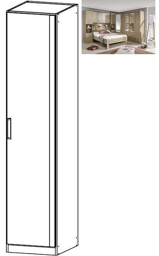 Rauch Rivera 1 Door Wardrobe with Cornice in Sonoma Oak