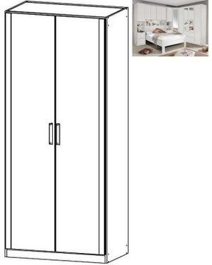 Rauch Rivera 2 Door Wardrobe with Cornice in Alpine White