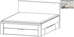 Rauch Rivera 4ft 6in Double Storage Bed in Alpine White - 140cm x 190cm