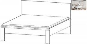 Rauch Rivera 5ft King Size Bed in Alpine White - 160cm x 200cm