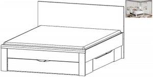 Rauch Rivera 5ft King Size Storage Bed in Alpine White - 160cm x 200cm
