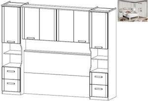 Rauch Rivera Overbed Unit for Divan Bed in Alpine White - 140cm x 190cm