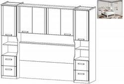 Rauch Rivera Overbed Unit for Divan Bed in Alpine White - 160cm x 200cm