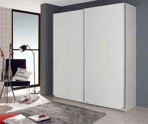 Rauch Sona 2 Door Sliding Wardrobe in White - W 181cm