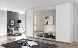 Rauch Syncrono 4 Door Mirror Sliding Wardrobe in White - W 361cm