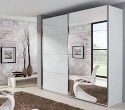 Rauch Xtend 2 Door Mirror Sliding Wardrobe in White - W 226cm
