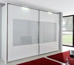 Rauch Xtend Sliding Wardrobe with Frame-2 Wave Glass