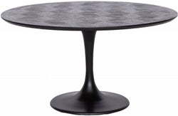 Blax Black Oak 140cm Round Dining Table