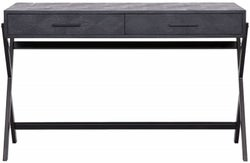 Blax Black Oak 2 Drawer Desk