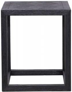 Blax Black Oak Square Corner Table