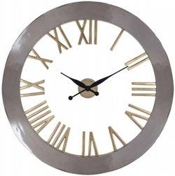 Derax Silver and Gold Round Clock