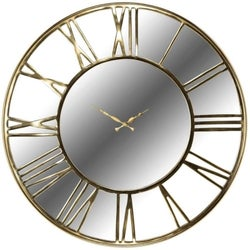 Greyson Gold Round Clock