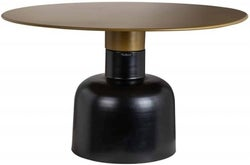 Rixo Gold and Black Round Coffee Table