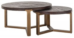 Cromford Mill Round Nest of 2 Coffee Tables