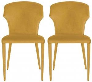 Piper Ochre Velvet Dining Chair (Pair)