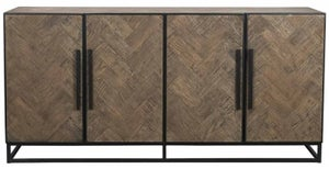 Herringbone Old Oak 4 Door Sideboard