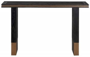 Hunter Black Oak and Gold Console Table