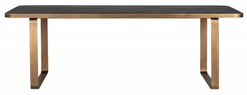 Hunter Black Oak and Gold 230cm Dining Table