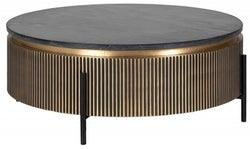 Ironville Golden Round Coffee Table