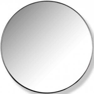 Jazzey Black Big Round Mirror - 60cm x 60cm