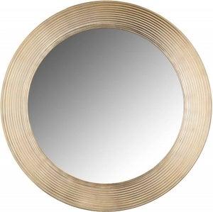 Morse Gold Big Round Mirror - 54cm x 54cm