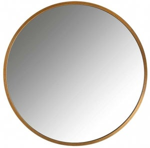 Maeron Gold Round Wall Mirror - 70cm x 70cm