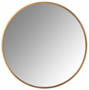 Maeron Gold Round Wall Mirror - 90cm x 90cm