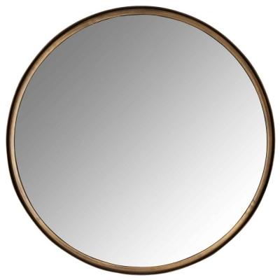 Cedric Brushed Gold Round Mirror - 61.5cm x 61.5cm