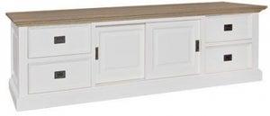 Oakdale Oak and Painted 2 Door 4 Drawer TV Unit