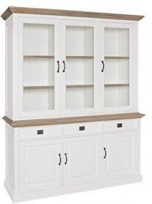 Oakdale Oak and Painted 6 Door 3 Drawer Display Cabinet