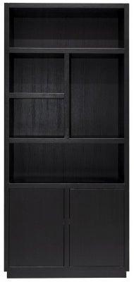 Oakura Black Oak 2 Door Bookcase