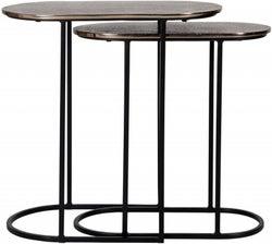 Chandon Aluminium Oval Side Table (Set of 2)