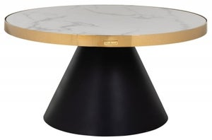 Odin Faux Marble Top Round Coffee Table