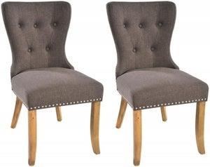 Rowico Adele Fabric Dining Chair (Pair) - Tiara Grey
