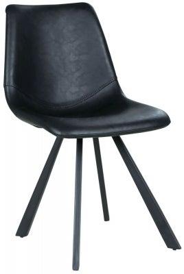 Rowico Alpha Faux Leather Chair - Black