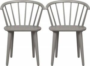 Rowico Carmen Light Grey Dining Chair (Pair)