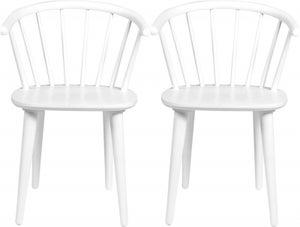 Rowico Carmen White Dining Chair (Pair)