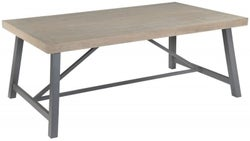Rowico Lowry Industrial Extending Dining Table