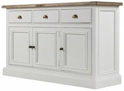 Rowico Lulworth White 3 Door 3 Drawer Sideboard